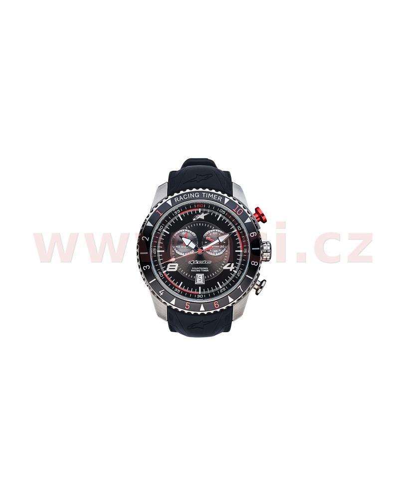 b54a6e688 hodinky TECH RACING TIMER/CHRONO, ALPINESTARS (broušený nerez/černá/červená,